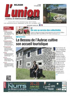 La couverture du journal L'Union du Cantal n°3300 | octobre 2019